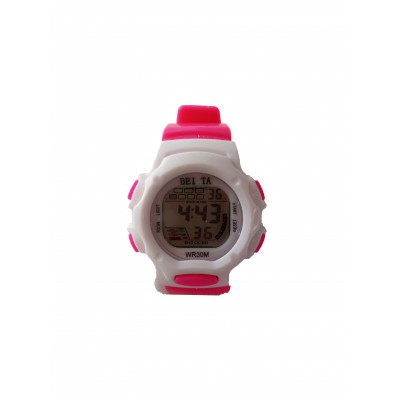 BEITA SPORT WRIST WATCH - WHITE & PINK