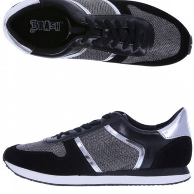 Detailed with contrast panels and lace-up styling, these ultra-cool sneakers give an upbeat, sporty appearance. TPR sole Synthetic upper Wipe with a clean, dry cloth when needed