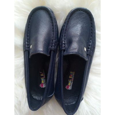 SF Boy's leather loafers - Navy