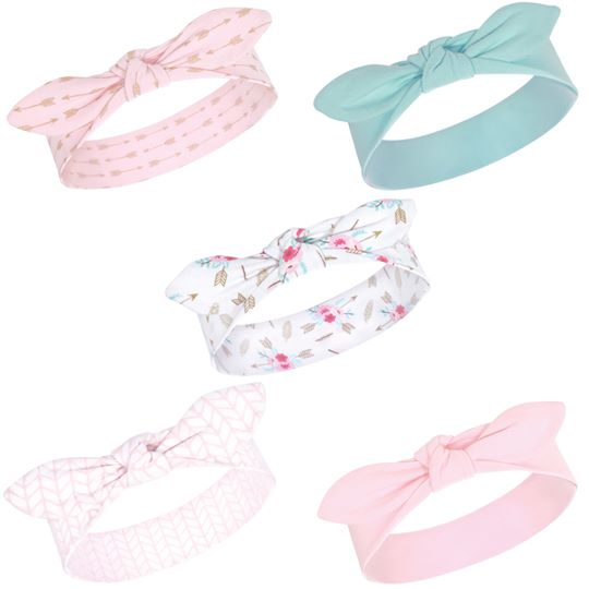 Little Treasure Girl Baby Headbands, 5-Pack