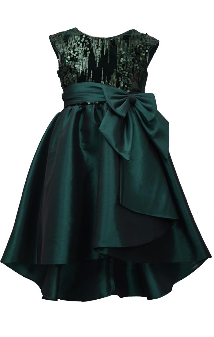 Bonnie Jean Taffeta Plaid Cardi Gown