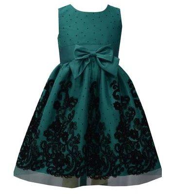 Bonnie Jean Flocked Mesh Cardi Gown