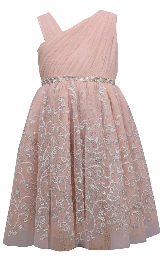 Bonnie Jean Foiled Lace Ball Gown