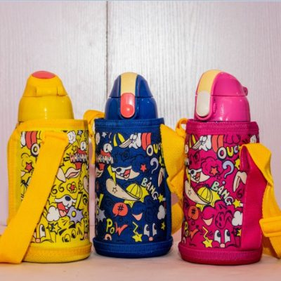 Character Water Bottle With Bag