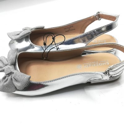 Shoemart Strap Girls Silver Shoe