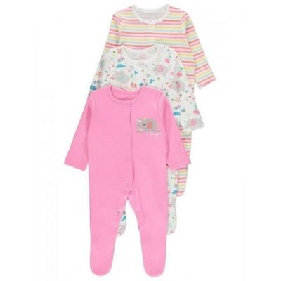 George 3 Pcs Sleepsuit (0-3 months)