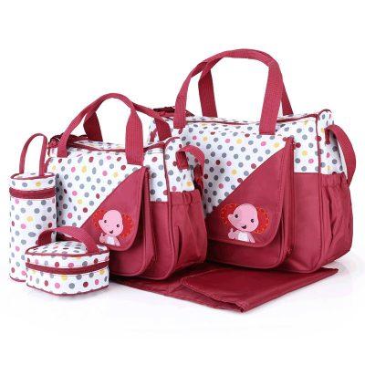 5 Pcs Diaper Bags