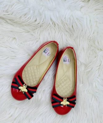 Harli girls flat Gucci shoe red