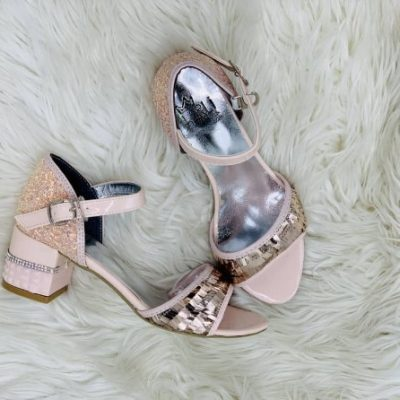 Harli peach wedge shoe