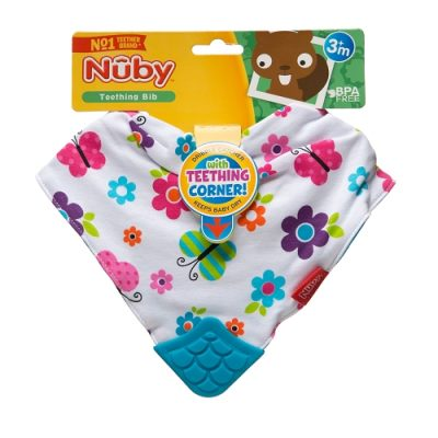 Baby Bibs & Burp Cloths Nuby Bandana Teething Bibs Pack of 3 Baby buildersandthing