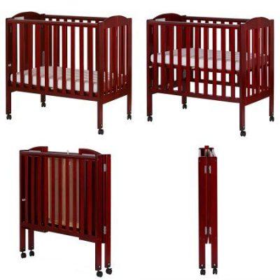 Dream On Me 2-in-1 Folding Birch Portable Crib