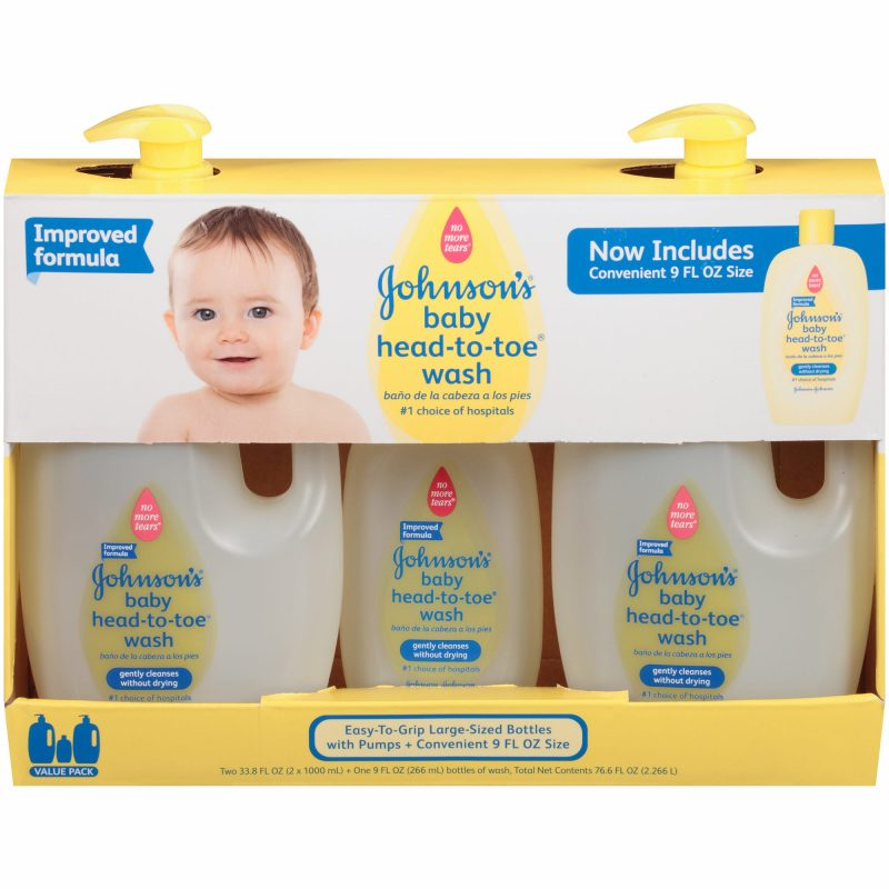 Johnsons Baby Head-to-Toe Wash 3 pack