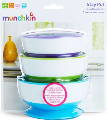 Munchkins Stay Put Suction Bowls 3 Pack