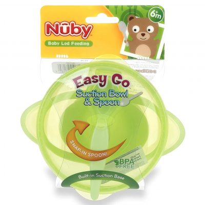 Nuby Easy Go Suction Bowl with Lid and Spoon