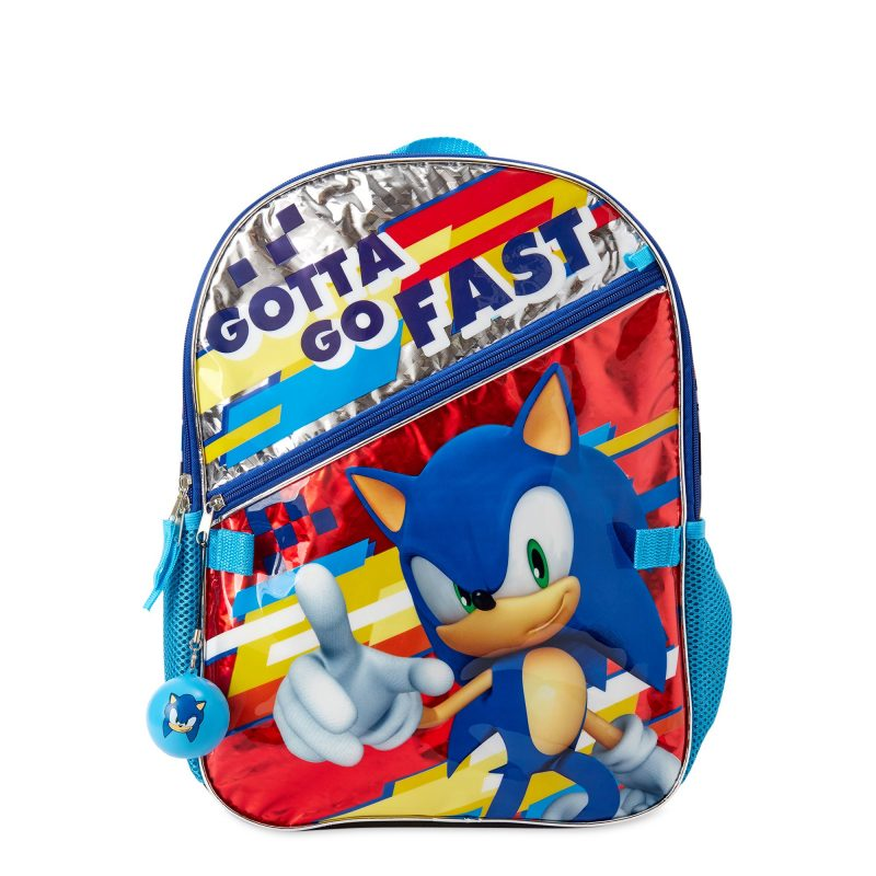 Sonic The Hedgehog 5 Piece Backpack Set 1